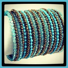 Seed bead handmade cuff