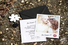 Invitación de boda POLAROID. Invitaciones de www.todoinvitacion.com