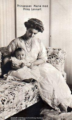 Prinzessin Marie von Schweden mit Sohn Lennart, Princess of Sweden nee as Grand Duchess of Russia | Flickr - Photo Sharing!