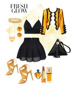 """""""Untitled #30"""" by lyneadujour on Polyvore featuring Yves Saint Laurent, Charlotte Russe, L. Erickson, Kate Spade, Guerlain and Tory Burch"""