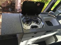 sprinter kitchen Sprinter Conversion, Sprinter Camper, Bed Sets, Camper Ideas, Camper Van, Vans, Island, Adventure, Kitchen