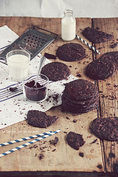 ... double chocolate cookies ...