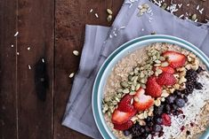 Steel-Cut Oats with Berries and Flax Seed Fodmap Recipes, Healthy Recipes, Fiber Cereal, Protein, Steel Cut Oats, Healthy Grains, Overnight Oats, Berries, Seeds