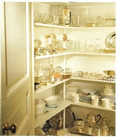 The Peak of Chic®: Covetable China Closets and Cabinets - Bunny Williams.  A dream china & linen closet for every hostess!