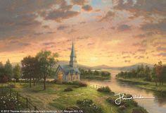 Sunrise Chapel by Thomas Kinkade