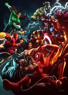 Marvel vs DC - Renato Giacomini