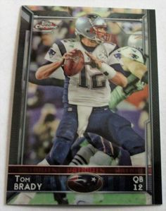 TOM BRADY 2015 TOPPS CHROME REFRACTOR CARD #50 #NewEnglandPatriots
