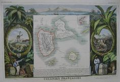 cartes anciennes guadeloupe -