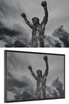 ROCKY APOLLO CREED CANVAS PICTURE PRINT DIGITAL SKETCH WALL ART FREE DELIVERY