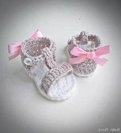 Crochet Baby Sandals Crochet Baby Shoes Baby girl sandals