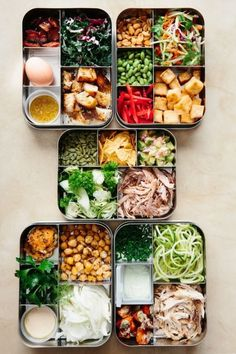Sunday Night Salads: 5 Recipes to Make Ahead and Eat All Week — Meal Prep Magic Tricks (weekly meal prep healthy kitchens) Lunch Meal Prep, Healthy Meal Prep, Healthy Snacks, Healthy Eating, Clean Eating, Diet Snacks, Healthy Kids, Healthy Packed Lunches, Healthy Yogurt