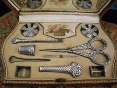 Palais Royal Silver Sewing Set Etui French 19th C