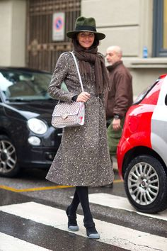 The street style is in from Day 1 of Milan Fashion Week 2014!  Giovanna Battaglia