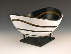 """Nick Leonoff """"Oval Boat""""   carved blown glass http://www.morganglassgallery.com/imagepages/leonoff_oval_boat.htm"""