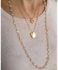 colar ouro 18k banhado de anjo estrela david tiffany semijoias