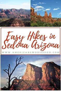 There are so many great easy hikes in Sedona that you can do.  These easy Sedona hiking trails are the perfect way to explore.  This part of Arizona is stunning and a great destination if you are looking to get out and explore nature.    #arizona #traveltips