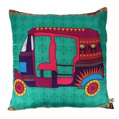 Cushion Cover Designs, Cushion Covers, Pillow Covers, Diy Pillows, Decorative Pillows, Cushions, Pillow Crafts, Fabric Painting, Fabric Art