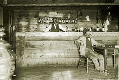old western saloon | Behind the bar. Workboard circa 1888. Many of the ingredients seen ...