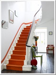 Hermes orange staircase