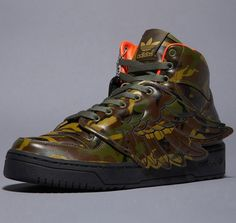 adidas Originals by Jeremy Scott Camo JS Winged Attitude High-Top Sneakers