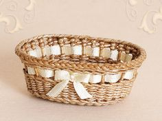 WC/105, wicker, diaper basket, scale 1 : 12, made by Will Werson.