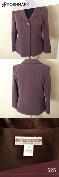 Nice blazer- never worn Nordstrom brand blazer. Fitted 3 button. Bought then never wore it. Nordstrom Jackets & Coats Blazers