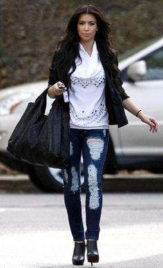 Cute Skinny Jean Outfit Kardashian Fashion Kim Kardashian Fashion Ideas Fashion Outfits