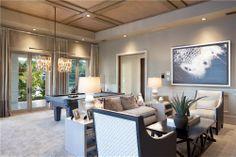 Club room area design by John Balistreri, Bali Design Group. Interior furniture design by Marc-Michaels Interiors.