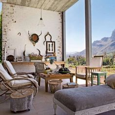House in Stellenbosch, South Africa as featured in Marie Claire Maison Outside Living, Outdoor Living, Cubes, Pose, Outdoor Spaces, Outdoor Decor, Outdoor Seating, African Design, Interiores Design