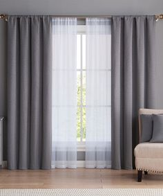 Tye-dye the lace part!!! Look at this #zulilyfind! Charcoal Diana Curtain Panel & Pillow Six-Piece Set #zulilyfinds