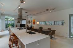 This Coconut Grove modern home has an open floorplan, perfect for entertaining.
