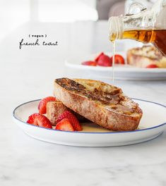 Vegan French toast, whole wheat flour, almond milk, maple syrup, nutritional yeast, cinnamon
