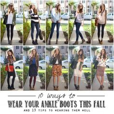 I love ankle boots. I do not love it when my legs look short and/or fat. Enter this blog post: 10 Ways to Wear Ankle Boots (and 13 Tips To Wearing Them Well)