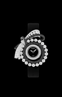 Watch in 18K white gold, diamonds and black diamonds. - CHANEL
