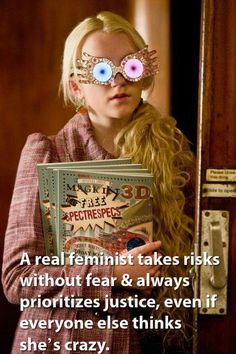 """Feminist Harry Potter; via """"Harry Potter's Unsung Feminist Heroes"""" by Erin Curtis in Ms. Magazine blog"""