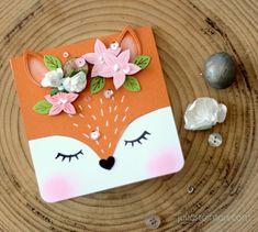 How to Make a Fox Card by Julia Stainton featuring Pinkfresh Studio Magical Unicorn Unicorn Birthday Cards, Kids Birthday Cards, Handmade Birthday Cards, Unicorn Cards, Fox Party, Cool Cards, Cards Diy, Karten Diy, Flower Stamp