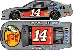 2014 TONY STEWART #14 TEST CAR 1/24 ACTION DIECAST