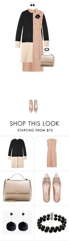 """Color Block Coat"" by ittie-kittie on Polyvore featuring Derek Lam, Zara, Givenchy, Miu Miu, Belk & Co., Lanvin, women's clothing, women, female and woman"