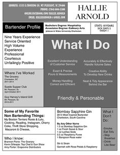 Best Bartender Resume Best How To Write A Bartender Resume  Become A Bartender Https .