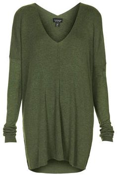 Fine Gauge V neck Tunic - Top Shop Great over a black polo neck or crew neck top