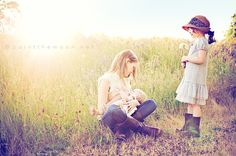 Mom Breastfeeding Baby + Big Sister Portrait = BEAUTIFUL! want to do this with Goose & Gator when the weather gets nice