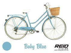 Baby Blue Vintage 6 Speed Ladies Bicycle from Reid Cycles