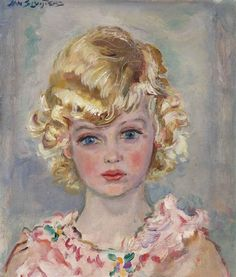 Jan Sluijters - A portrait of a young girl, oil on...