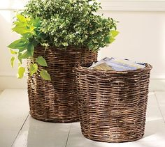 Love baskets for planting and holding books