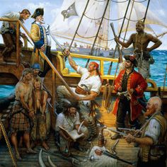 The History Hub: The Golden Age of Piracy: Pirates in Port Royal, Jamaica. Pirate Art, Pirate Life, Pirate Theme, Pirate Ships, Images Pirates, Golden Age Of Piracy, Treasure Island, Tall Ships, Sailing Ships
