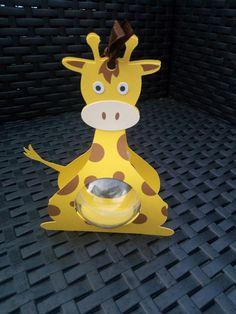 lot de 4 Boites à dragées thème jungle ici boite girafe + boule plexi