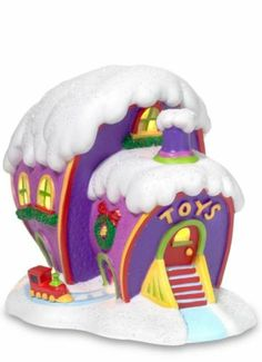 GRINCH Village WHO-VILLE TOY STORE~ Dr. Seuss, New in Box FREE SHIPPING
