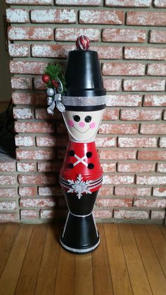 "Silver 42"" Clay Pot Christmas Toy Soldier"