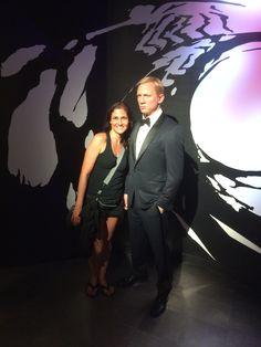Con el ex James Bond Daniel Craig.