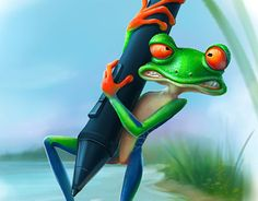 "Check out new work on my @Behance portfolio: ""Hard work - Hard for frog"" http://be.net/gallery/32269625/Hard-work-Hard-for-frog"